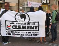 Gedenkkundgebung in Freiburg zum Jahrestag des Todes von Clément Méric
