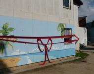 Frisch gestrichen - Mural in der Hammerschmiedstraße