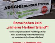 Plakat zur Kundgebung am 12. September 2014