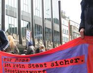 Demo gegen sogenannte sichere Herkunftsstaatenregelung in Bremen