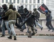 Protest gegen FN Parteitag in Lyon