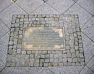 Gedenktafel für den Fluchttunnel in der Elsenstraße in Berlin-Alt-Treptow
