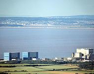 Kernkraftwerk Hinkley Point nahe Bridgwater, Somerset an der Südwestküste von England