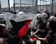 Protest und Polizeigewalt am Abschiebeknast Amygdaleza, 21. Februar 2015