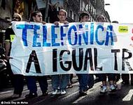 Streik bei Telefónica