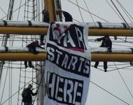 Protestaktion in Flensburg