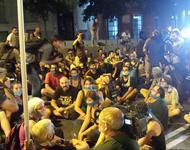 """Protest gegen das neue """"Knebelgesetz"""" in Spanien"""