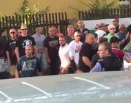 Rassistischer Mob in der Bremer Straße am 24.7.2015 in Dresden