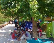 Geflüchtete campieren im Pedion-tou-Areos-Park in Athen