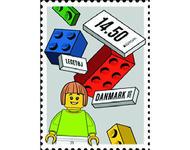 Briefmarke mit Lego-Bausteinen