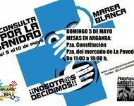 Plakat zu Protesten gegen die Kürzungen im spanischen Gesundheitssystem