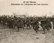 1. Ukrainische Division der Blauröcke 1918 (Postkarte)