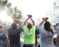 Südafrikanische Studierende demonstrieren gegen Studiengebühren