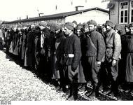 Österreich.- Konzentrationslager Mauthausen, Neuankunft sowjetischer Kriegsgefangener im KZ Mauthausen, Oktober 1941
