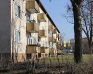 Ein Block in der ECA-Siedlung