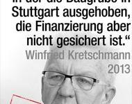 kretschmann explodiert nicht - S21 Kostenexplosion