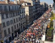 Proteste gegen Reformen bei Bahn und öffentlichem Dienst in Marseille, 22. März 2018