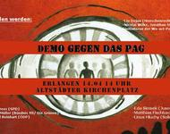 Demoflyer NO PAG Erlangen