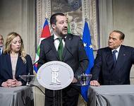 Triptychon der italienischen Rechten: Meloni, Salvini, Berlusconi