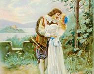 Alte deutsche Postkarte, 19. Jahrhundert