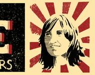 """Zeichnung von Nekane und Slogan """"Free Nekane and all political prisoners"""""""