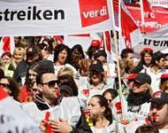 Ver.di Streikende Symbolbild