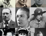 Am 1.4.1944 erschossene belgische und französische Résistance-Mitglieder vom Réseau Alliance