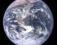 Die Erde von Apollo 17 aus gesehen