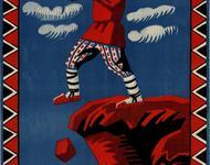 """Frühsowjetisches Plakat gegen den Analphabetismus: """"Der Analphabet ist wie ein Blinder - überall erwarten ihn Pech und Unglück."""""""