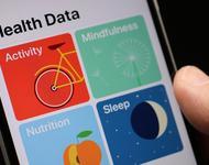 Gesundheitsapp auf Handy