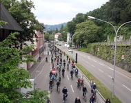 Fahrraddemo von Schlossbergringbrücke
