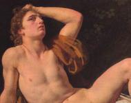 Gemälde von Eckersberg, Titel: Narcissus, von 1815.