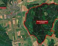 Das Gebiet des Truppenübungsplatzes