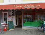 Die Geschäftsfront des Quartiersladens.