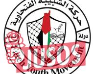 Das Logo der Fatah-Jugendorganisation mit einem symbolhaften Staat Israel, der komplett in den Farben der Palästinensischen Autonomiebehörde gehüllt ist. Im Vordergrund das Logo der Jusos.