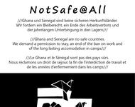 Flyer der NotSafe@All-Demonstration