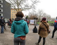 Mahnwache vor der LEA in Freiburg