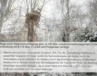 Seit dem 02.Februar ist es untersagt die Baumhäuser zu betreten