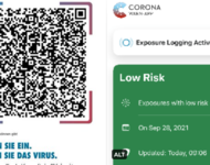 Corona Warn App - Screenshots _ CCCFr / Twitter