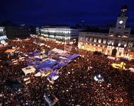Puerta del Sol in Madrid - seit dem 15.05. versammeln sich hier täglich 10-tausende Mensche. Foto: Olmo Calvo Rodríguez