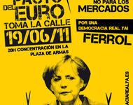 Bundestagsdelegation trifft sich mit Kritikern von Merkels Sparpolitik (hier Protestaufruf von 2011)