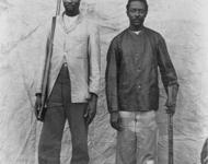 Samuel Maharero (links) führte die Herero in den Aufstand gegen die deutsche Schutztruppe