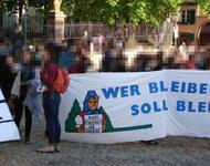 Zwischenkundgebung auf dem Augustinerplatz. Foto: RDL