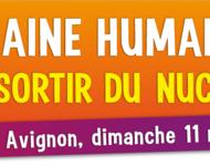 Menschenkette im Rhônetal