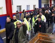 Protest im Autowerk von PSA in Aulnay Quelle: http://lacausedupeuple.blogspot.de/