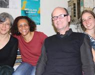 Beatriz Bracher & Luiz Ruffato mit Valéria und Meike