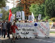 Eine Anti-Überwachungsdemo in Freiburg
